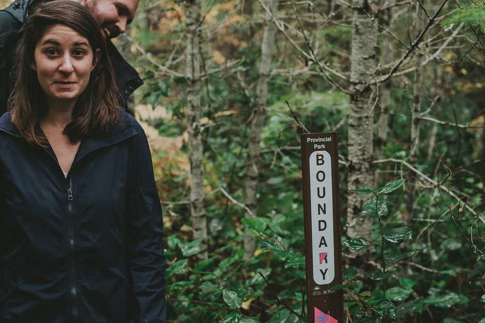 englishman river falls engagement session