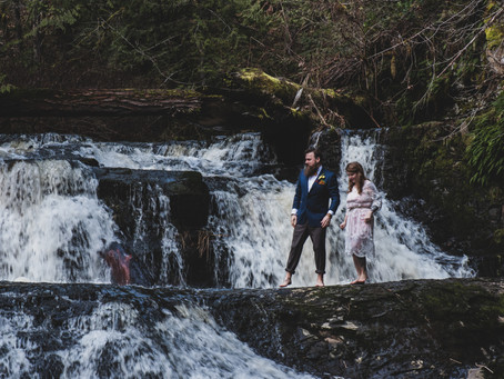 Climbing Through the Trees and Waterfalls | Errington Elopement