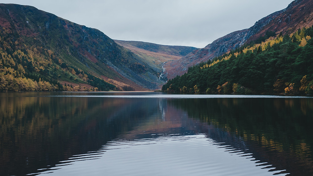 glendalough lake, ireland