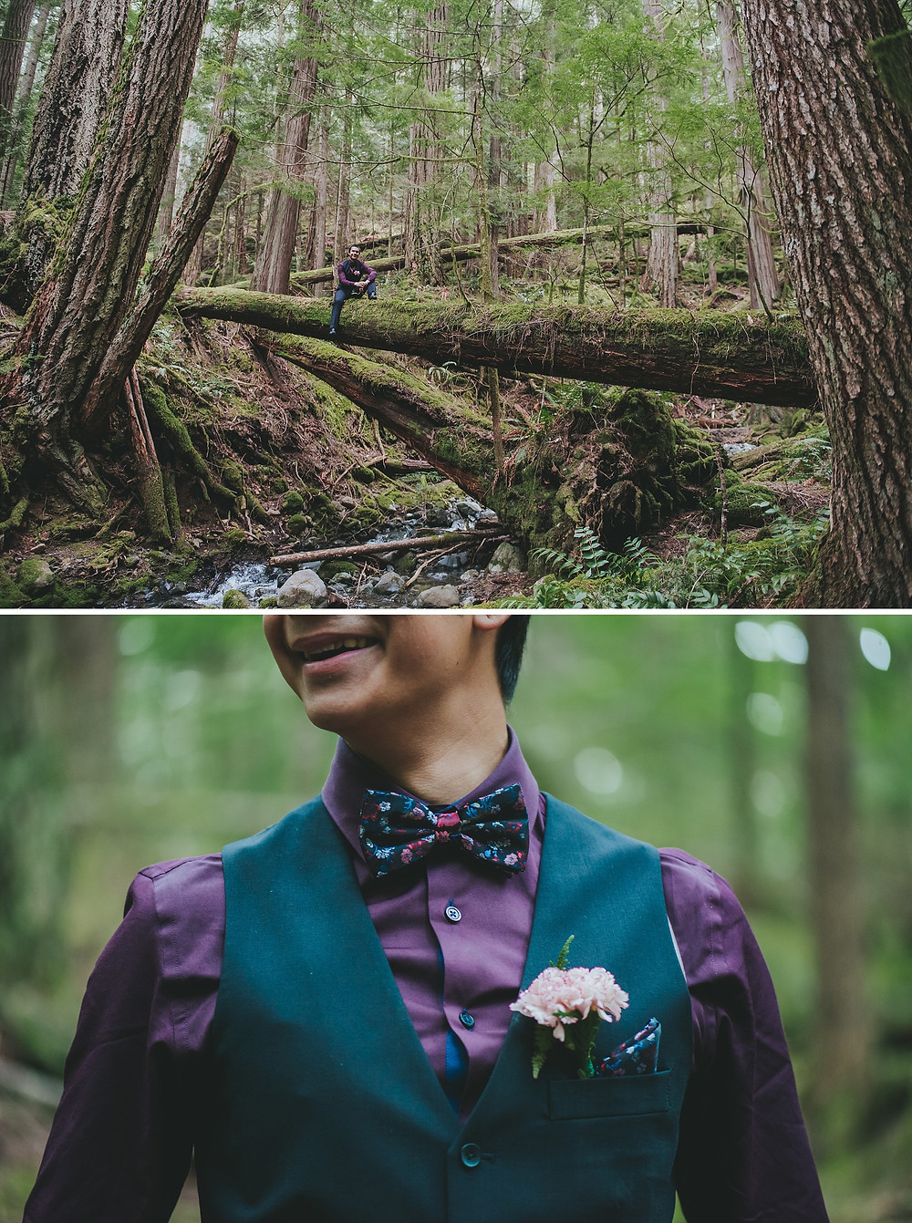 forest wedding photography