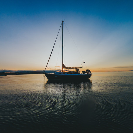 Anchoring at Qualicum Beach | A New View of Our Hometown