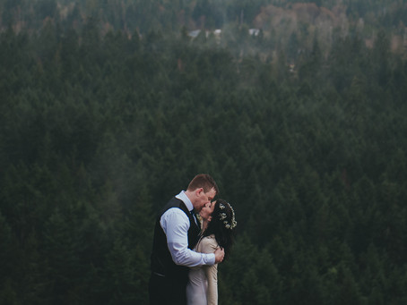 Love in the Rain | Little Mountain Intimate Wedding