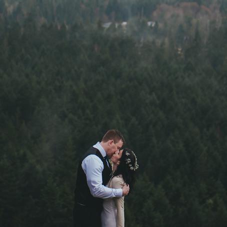 Love in the Rain | Little Mountain Intimate Wedding