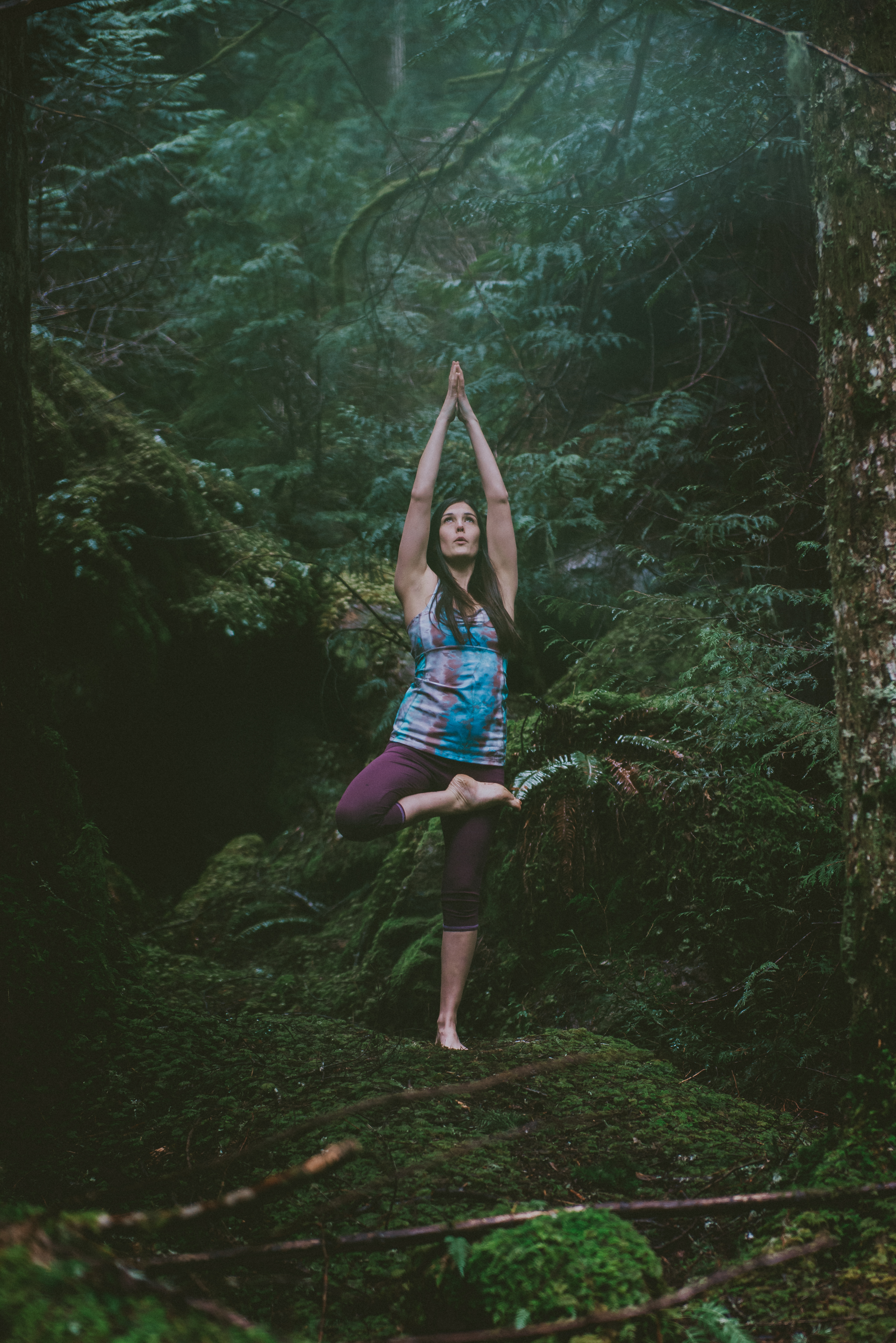 Tree pose among the trees