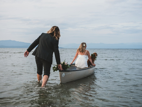 A Doggo and His Humans Elope | Tigh Na Mara Elopement