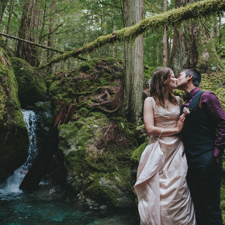 Sidney & Natalie | Cathedral Grove Forest Wedding