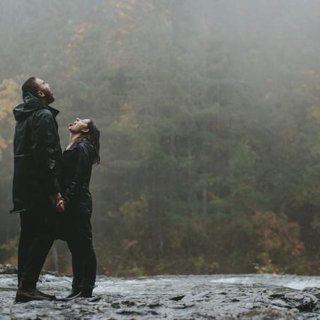 Hailey & Tom | Englisman River Falls Engagement