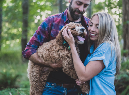 A Puppy and His Parents | Comox Engagement Session