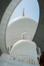 Exterior de la mezquita blanca