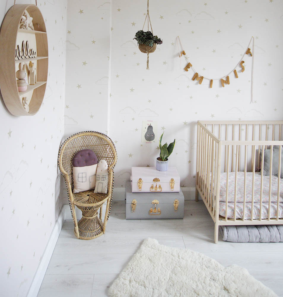 Grey and soft pink nursery