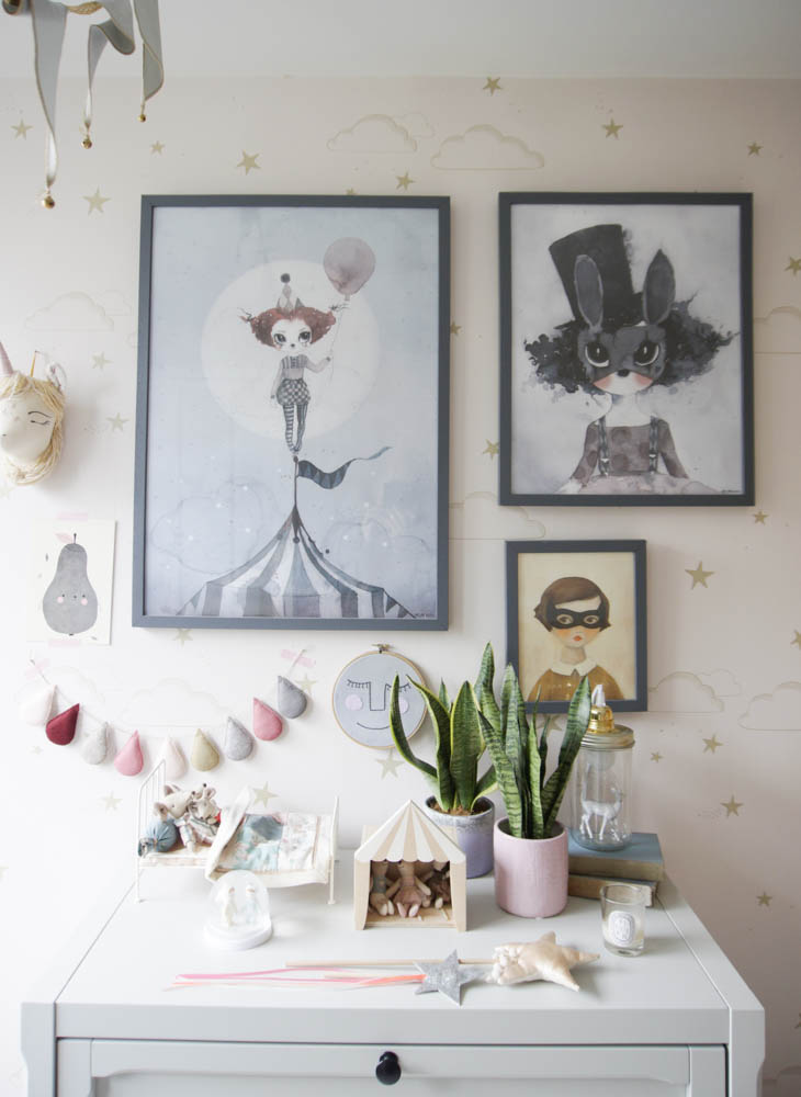 Plants in a young child's bedroom
