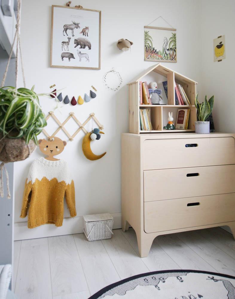 Children's bedroom with plants