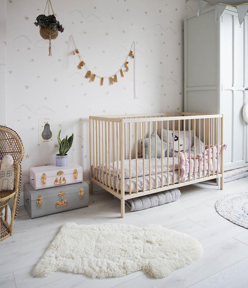 Grey and pink girl's nursery