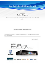 I-Tech HD Certification Level 2