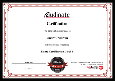 certification Dante Level-1