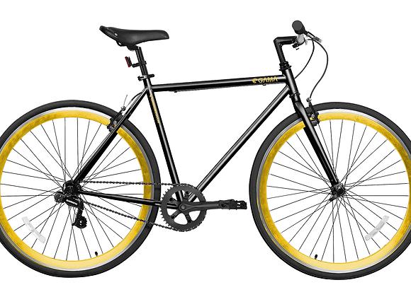 Gama Bikes Alley Cat 6S Black Gold 700C