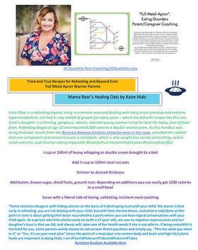 JD Ouellette Peer Coaching Recipes_Katie