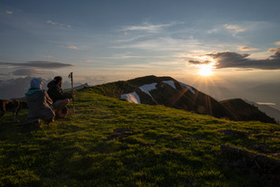 Sončni zahod na Golici