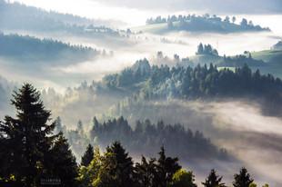 Bojan Rupnik Photography, pokrajinska fotografija: meglice in Rovtarsko hribovje
