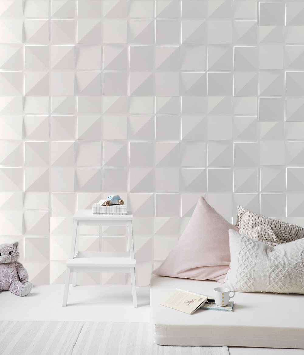 little girl's room decorated with 3D wall panels by De Wolfe Wall Forms