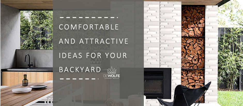 Comfortable and attractive ideas for your backyard