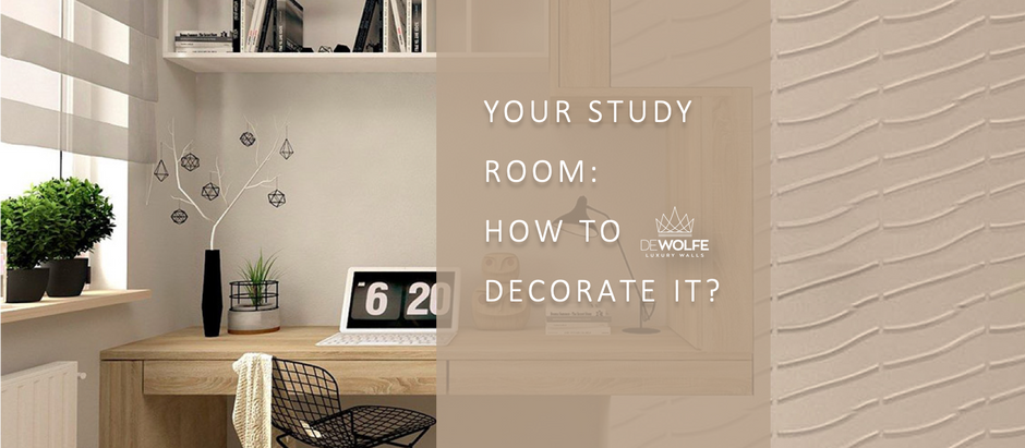Your study room: how to decorate it?