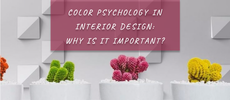 Color psychology in interior design: why is it important?