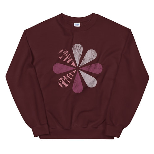 SWEATSHIRT MARRON  PINK FLOWER VINTAGE