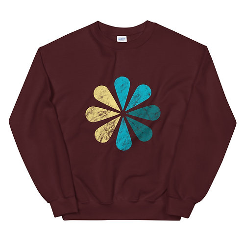 SWEATSHIRT MARRON VRAIMENT SUD FLOWER