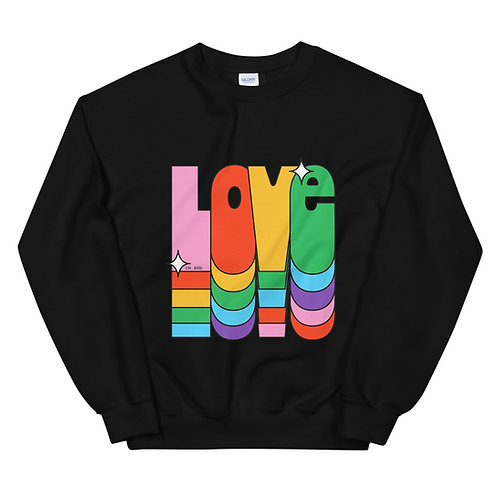 SWEATSHIRT NOIR CDS LOVE COULEUR