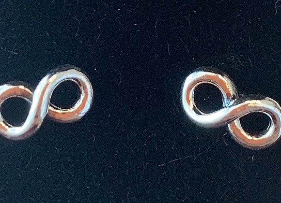 Sterling Silver Infinity Studs