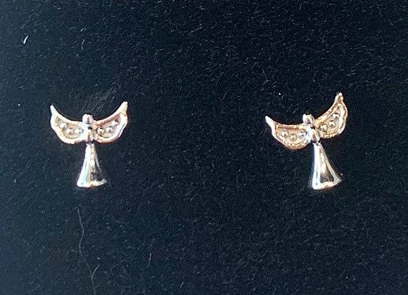 Sterling Silver Angel Studs