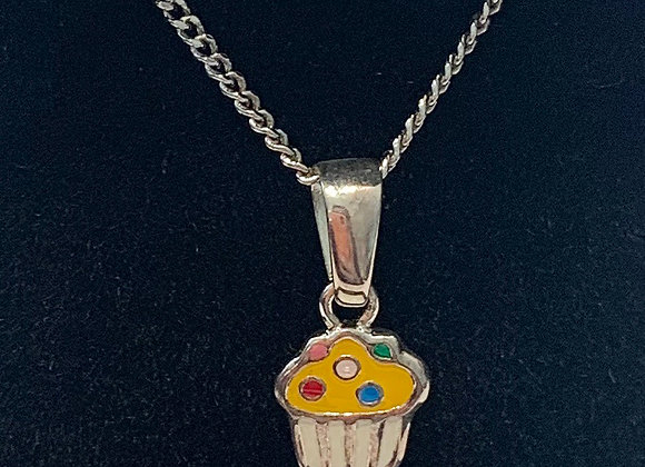 Sterling Silver Cupccake Necklace