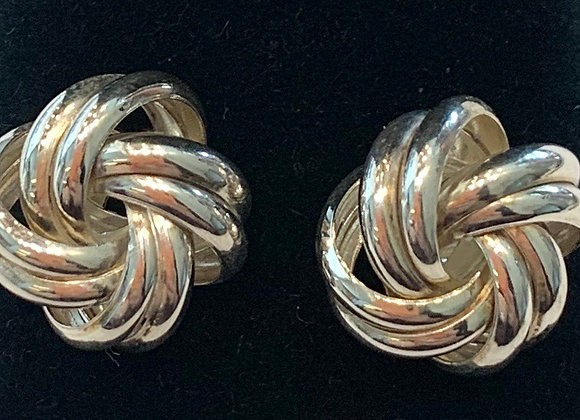 Sterling Silver Knot Stud