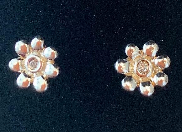 Sterling Silver Flower Studs