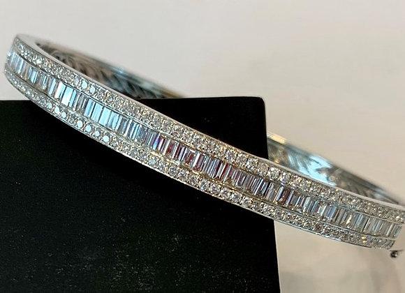 White Gold Diamond Bangle
