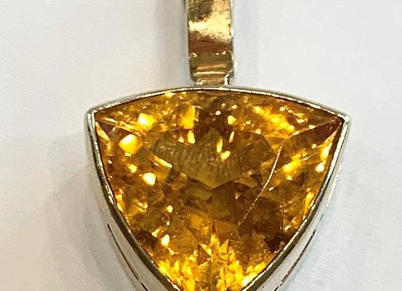 Yellow Gold Citrine Pendant