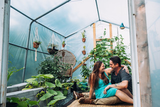 Mike & Anne {greenhouse session}
