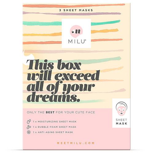 3 Sheet Masks - Gift Box