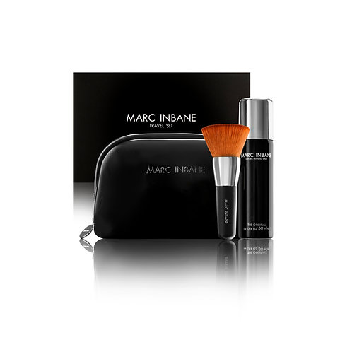 Travel Set | Tanning Spray, Brush & Luxe Clutch