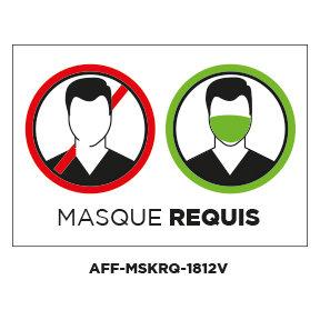 """Autocollants amovible ou Papier """"Masque requis"""" - Paquet de 4"""