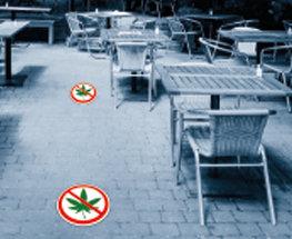 Autocollant de sol Zero-Cannabis - 18po de diamètre