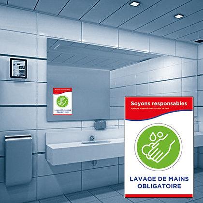 Autocollants amovibles pour mirroir de salle de bain