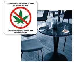 Autocollants de table Zero-Cannabis 3x3po (Paquet de 5)
