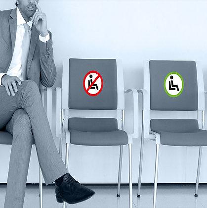 Autocollants d'occupation de chaise