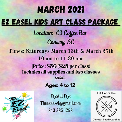 PRE -BOOKED Conway Art Class
