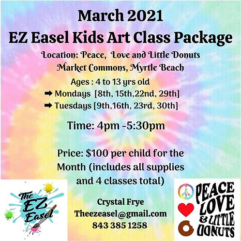 PRE -BOOKED Myrtle Beach, Market Commons Art Class Tuesday