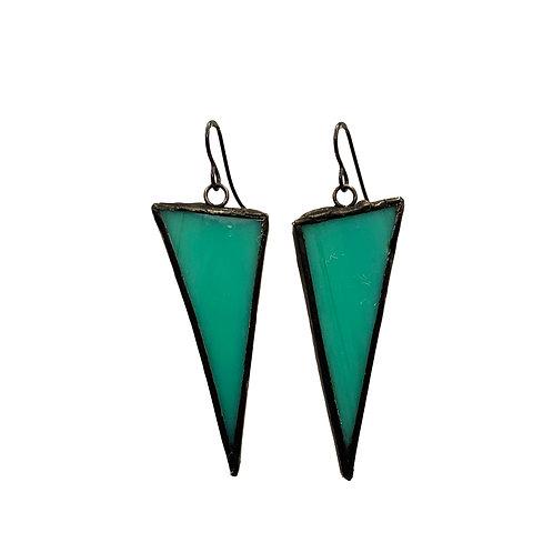 Aqua Opaque Triangles