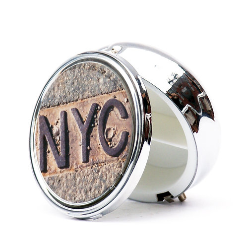 NYC Manhole Pillbox- Large