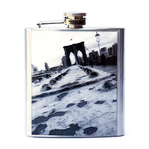 Brooklyn Bridge B&W 6oz Flask